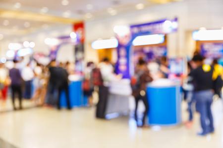 register: Abstract blur people registering before meeting begin, registration que