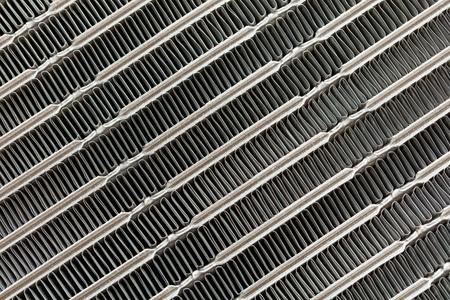Car air conditioning condenser texture, automotive aluminium condensing cooling coils unit Stock Photo