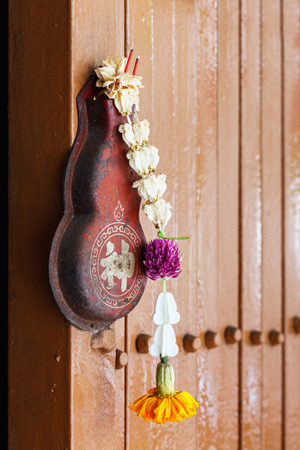 wall mounted: Close up wall mounted incense holder or burner Stock Photo