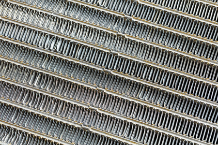 Close up car air conditioning condenser unit texture Stock Photo