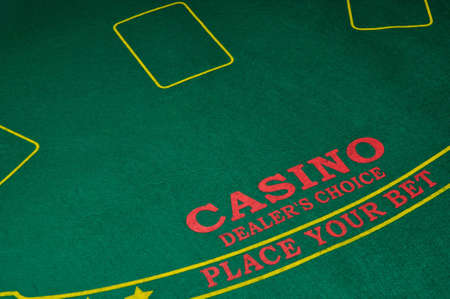 Photograph of a dealers table at a casino. photo