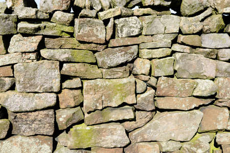 drystone: Closeup photograph of the individual stones in a Drystone Wall