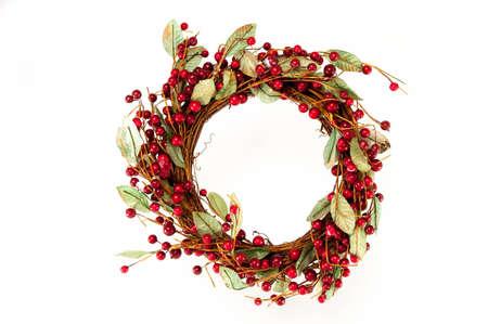 Beautiful Christmas Wreath for hanging on your door Stock Photo