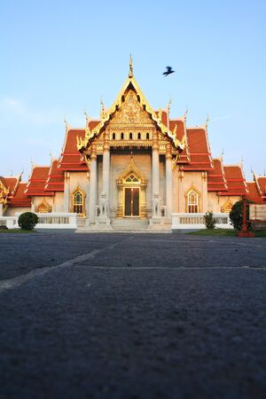 Wat Benchamabophit ,temple of thailand photo