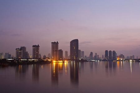 city of thailand , evening Stock Photo - 7947232