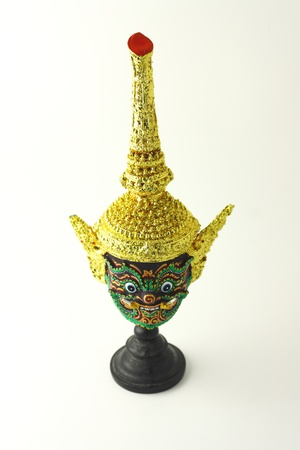 khon: Head of Khon, Royal performance of Thailand Stock Photo