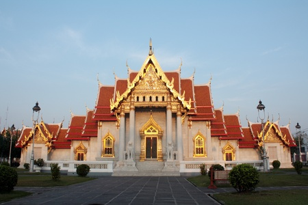 wat benchamabophit ,temple in Thailand Stock Photo