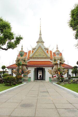 Inner yard of Wat Arun temple in Bangkok, Thailand photo