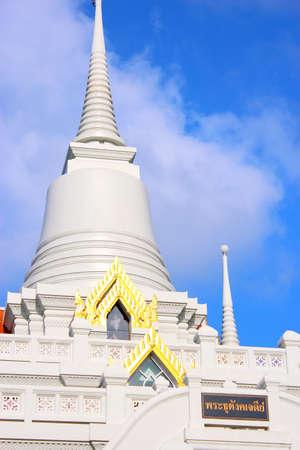 Thai pagoda   Wat Asokaram, Sumutpakran , Thailand photo