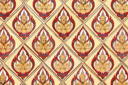 ism: Thai traditional classic pattern in decorated temple