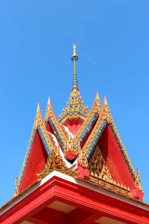 Buddhist church roof photo