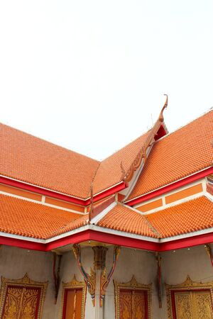 Buddhist church roof photo