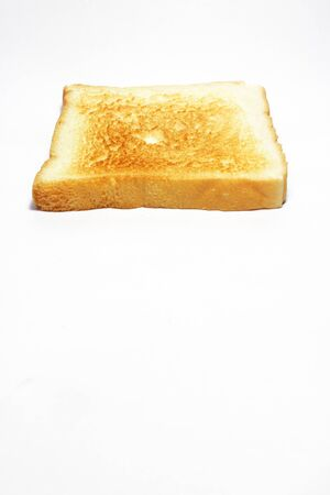 White bread toast  Isolated on white background photo