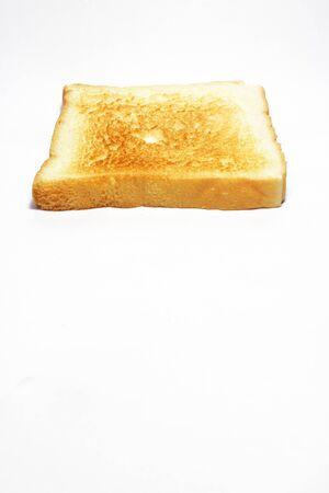 White bread toast  Isolated on white background photo