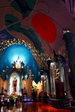 supplicate: The Erawan Museum, Samut Prakan  near Bangkok , Thailand Editorial