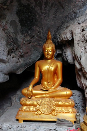 Image of Buddha in The Cave , Buddha Temple , Asia , Thailand photo