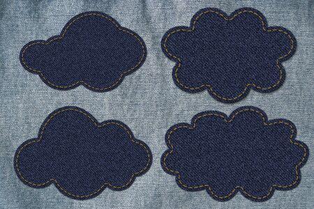 cloud on jean Stock Photo - 13362290