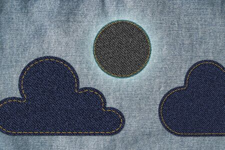 Moon with cloud on jean