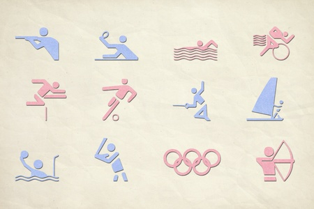 Sport icons paper collection  Icons set photo