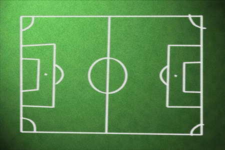 offside: soccer field with lines on grass