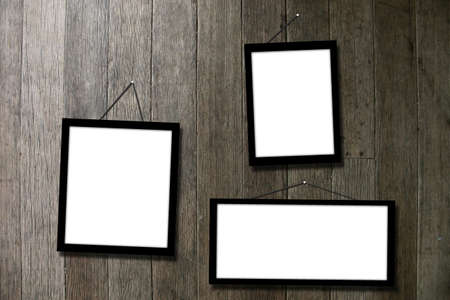 picture frame hang on wall Stock Photo - 13515286