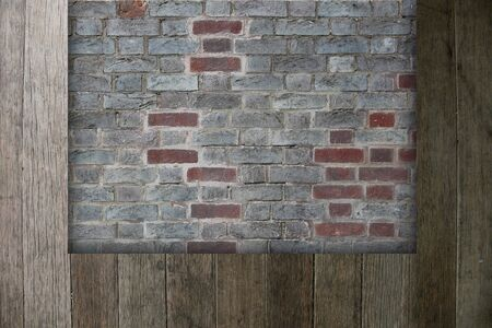 wall with wood brick background Stock Photo - 13644129