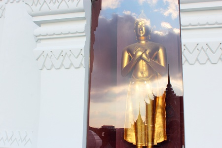 image of Buddha, reflect ,thailand Stock Photo - 13594440