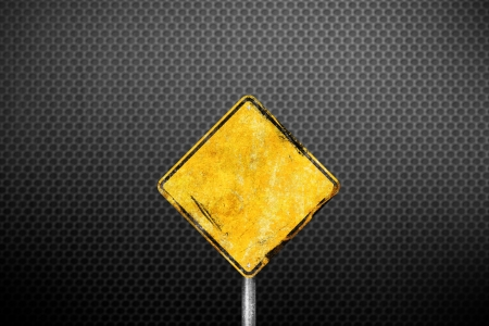 mount price: Blank dirty yellow road sign