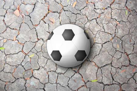 Ball Dry Ground Reklamní fotografie