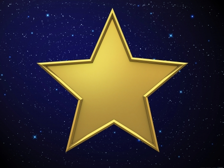 5 december: Gold star Stock Photo
