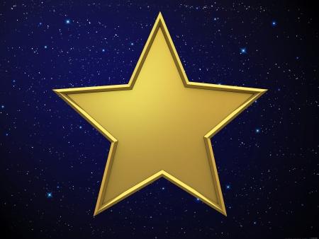 ster: Gouden ster Stockfoto