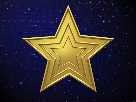 aureate: Gold star Stock Photo