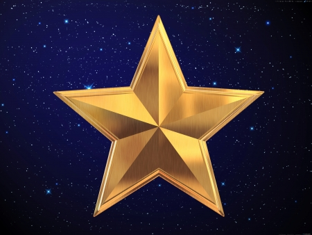 five stars: Gold star Stock Photo
