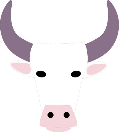 white cow isolated on white background