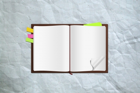 organizer page: notes book