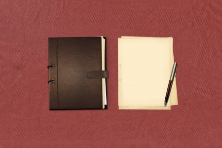 paper notes and old book Stock Photo - 15002056
