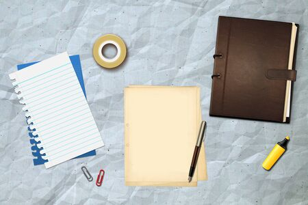 Book office papers and pen Stock Photo - 14995722