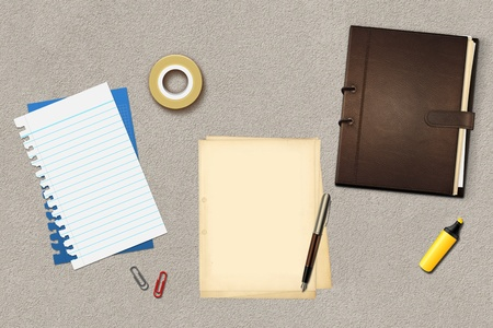 Book office papers and pen Stock Photo - 14995893