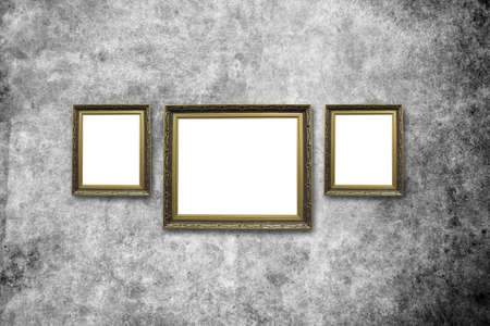picture frame on wall to put your own pictures in Stock Photo - 14995902