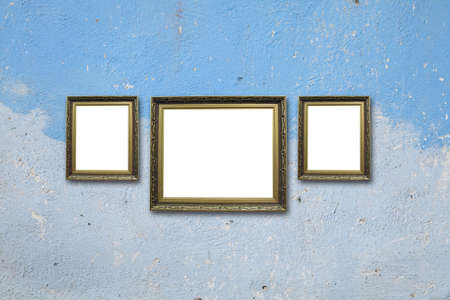 picture frame on wall to put your own pictures in Stock Photo - 14995861