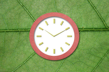 Time on Old Paper Clock Stock Photo - 15621629