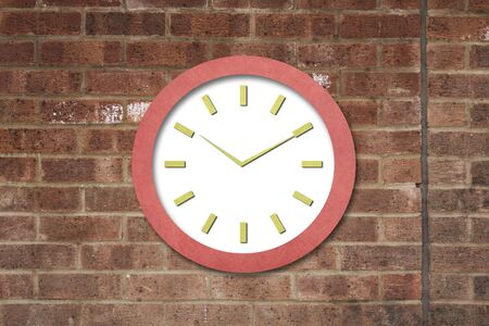 Time on Old Paper Clock Stock Photo - 15621626