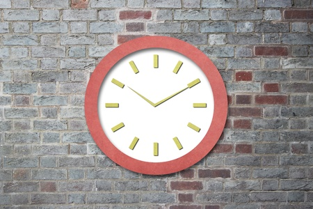 Time on Old Paper Clock Stock Photo - 15621632