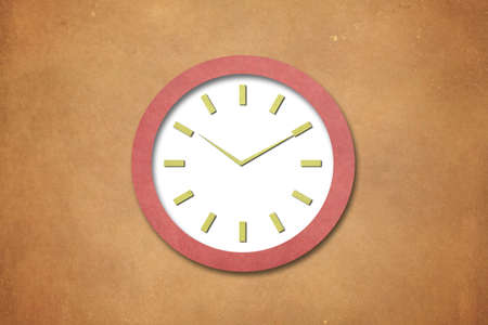 Time on Old Paper Clock Stock Photo - 15621627