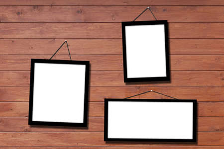 picture frame hang on wall Stock Photo - 15582285