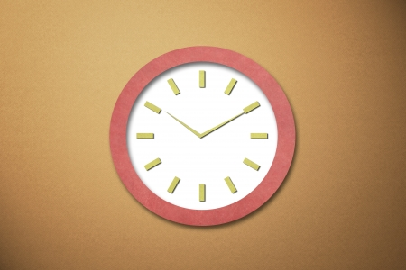 Time on Old Paper Clock Stock Photo - 15592116