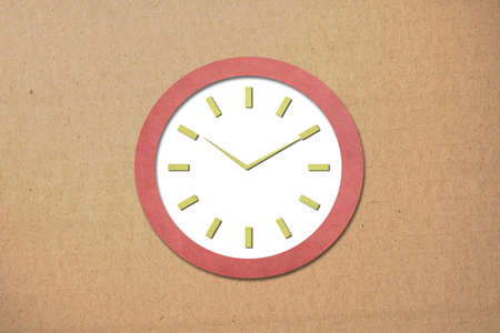 Time on Old Paper Clock photo