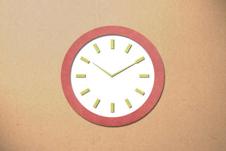 Time on Old Paper Clock Stock Photo - 15592023