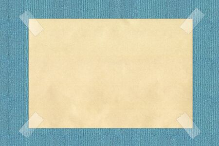 note paper taped on background Stock Photo - 15455042