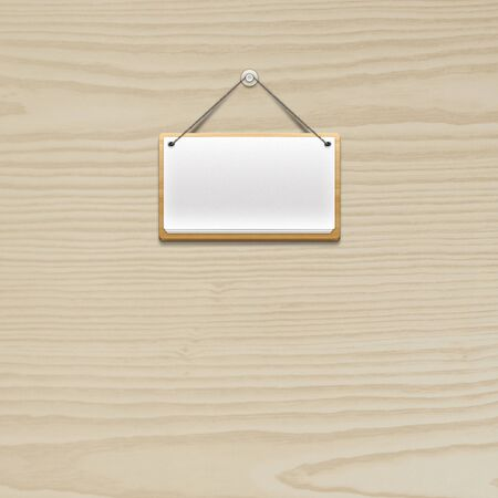 wooden board hanging photo
